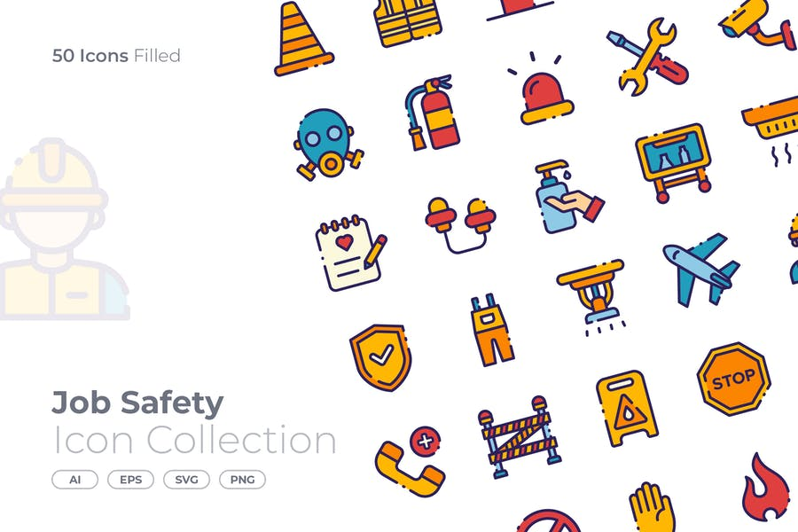 Filled Job Vector Icons