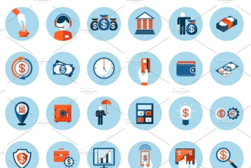 Finance and Banking Vector Elements