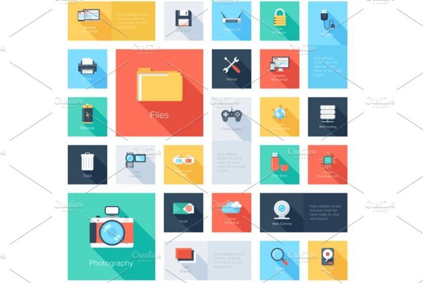 Flat Comunication Settings Icon