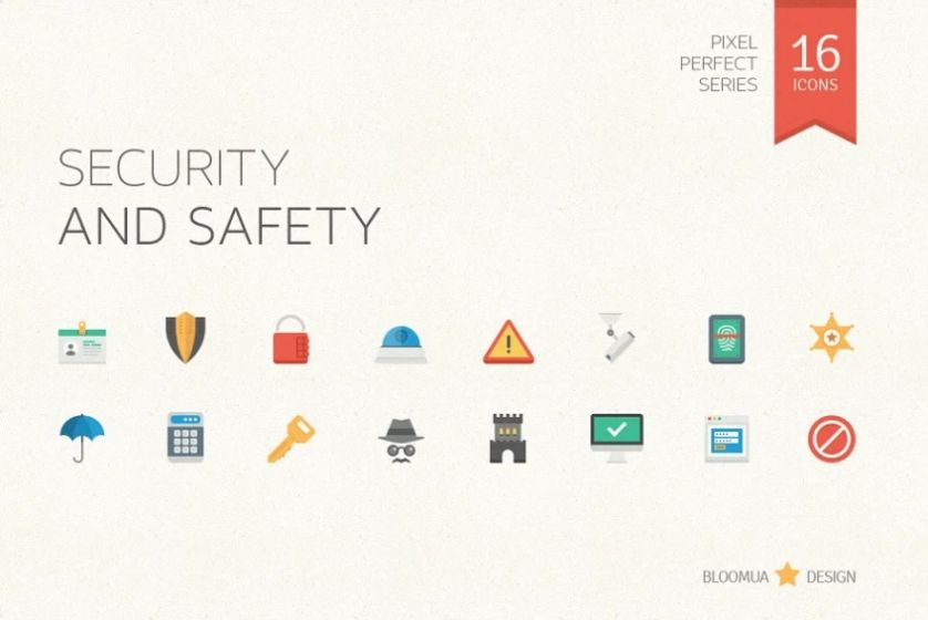 Flat Protection Icons