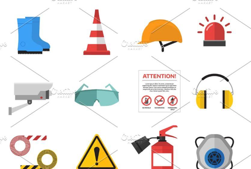 Flat Safety Vector Elements