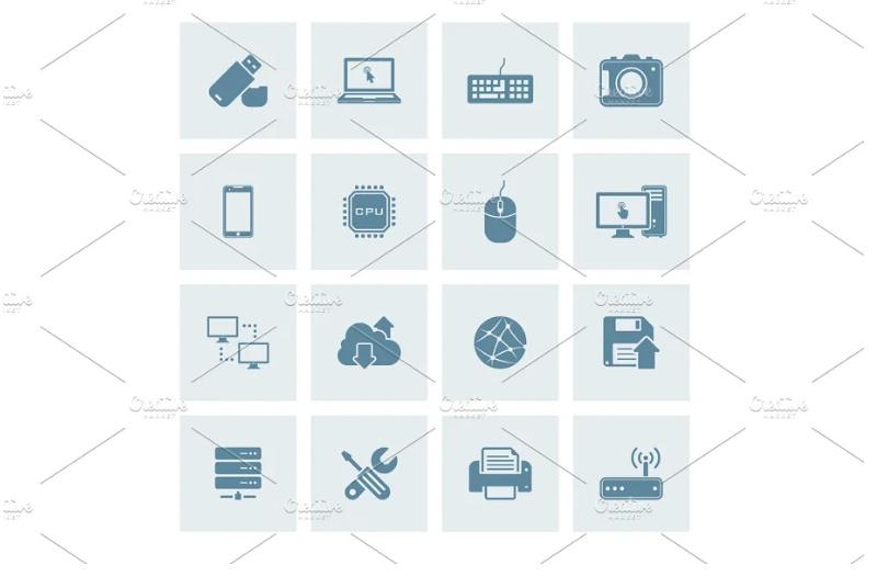 Flat Technology Vector Elements