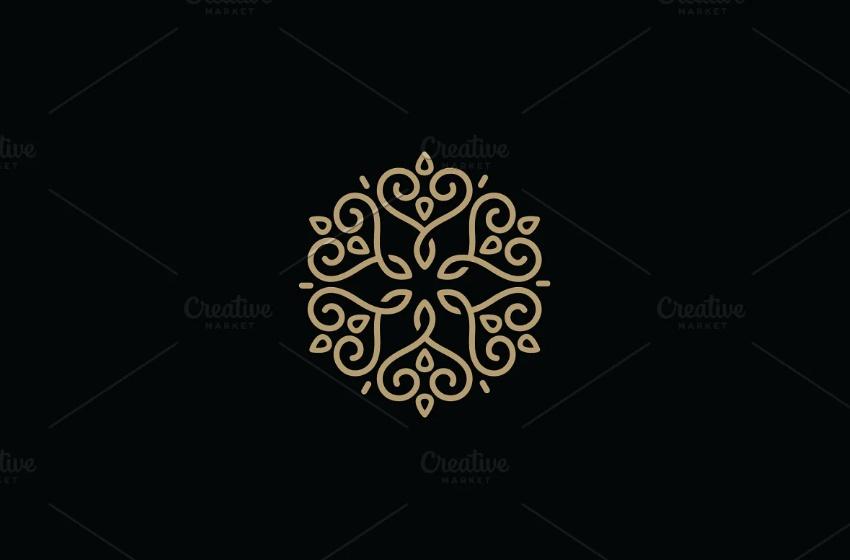 Floral Heart Logo Design