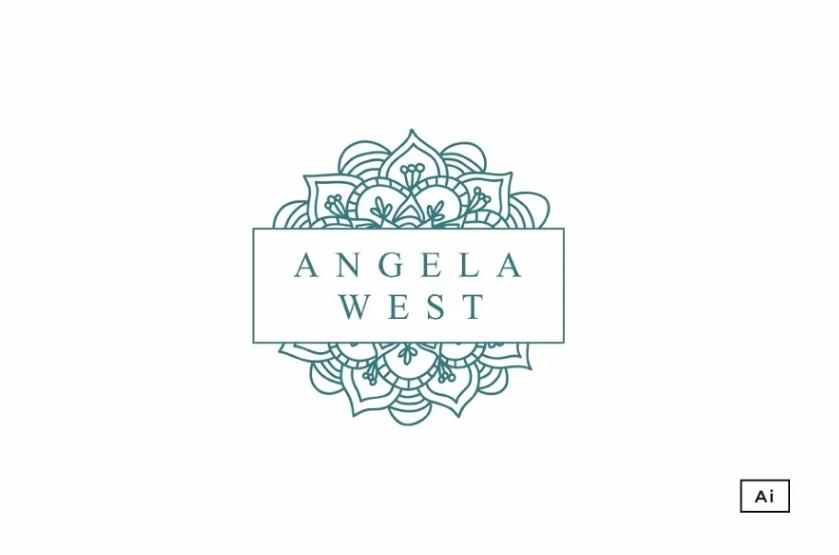 Floral Mandala Sketch Logo