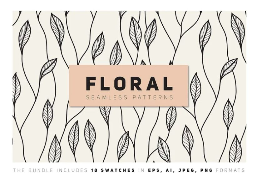 Floral Seamless Pattern Backgrounds