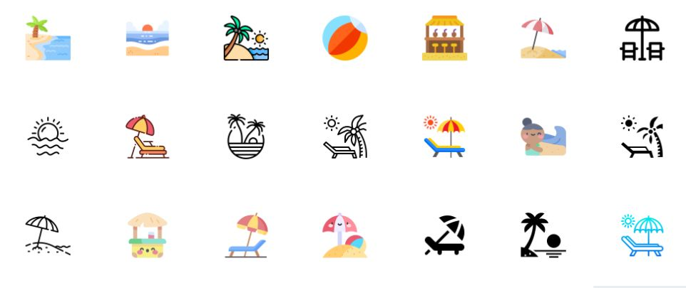 Free Beach Icons
