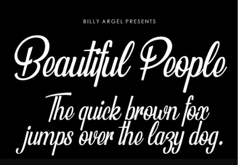 Free Beautiful Face Fonts