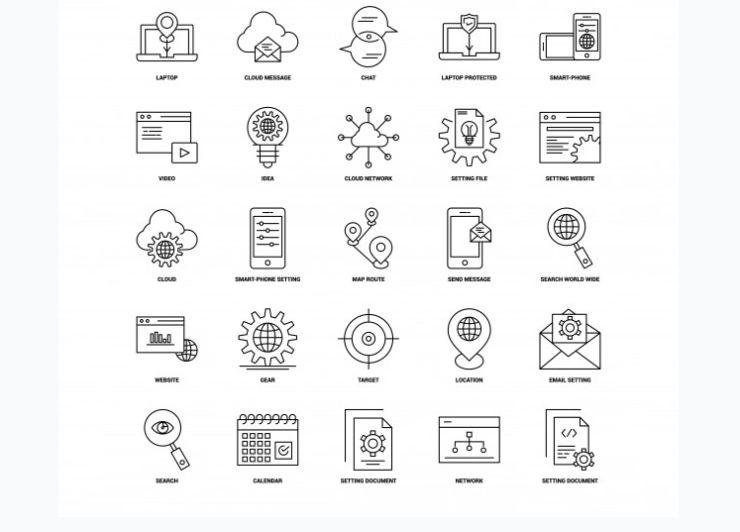 Free Black Line Vector Icons