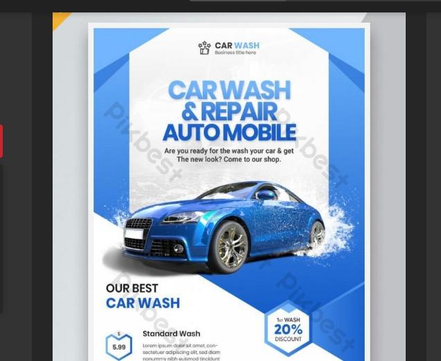 Free Car Wash Flyer