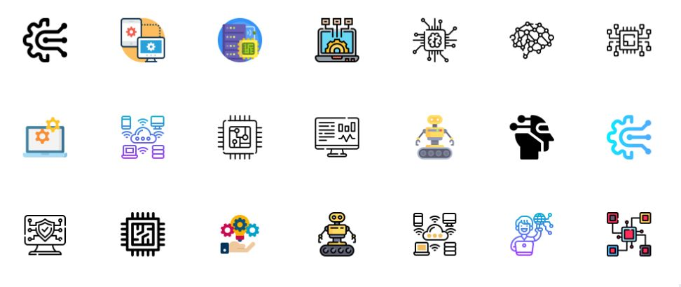 Free Colorful Technology Icons