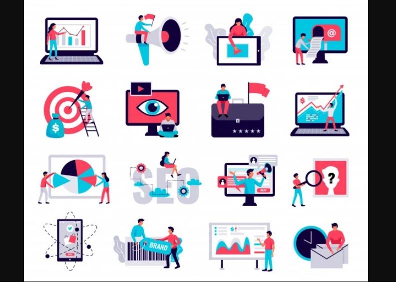 Free Digital Marketing Icons Set