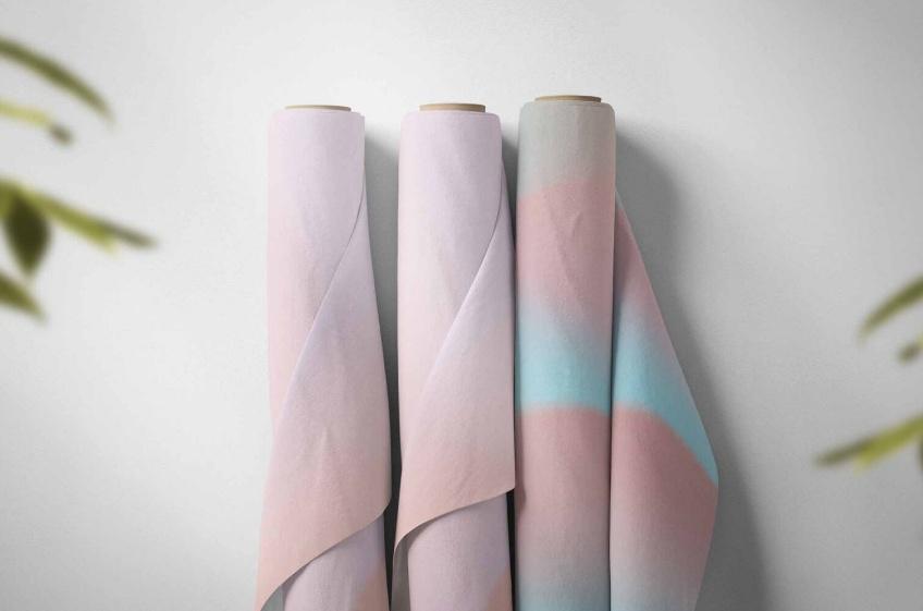 Free Fabric Rolls Mockup PSD