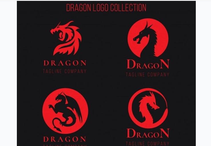 Free Flat Dragon Logos