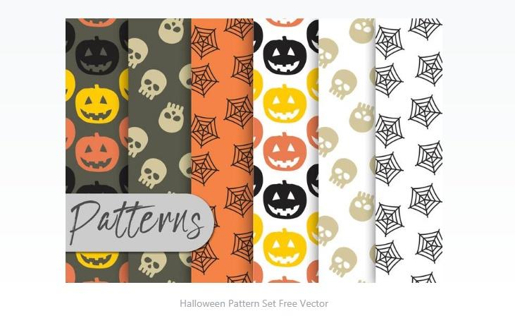 Free Halloween Pattern Set
