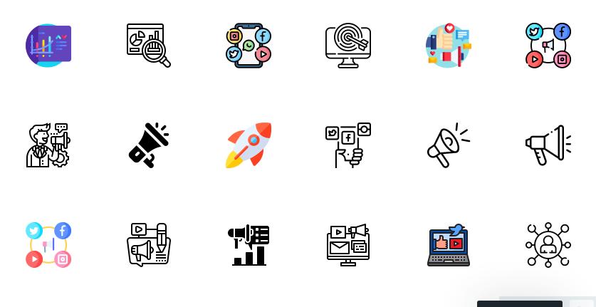 Free Marketing Icons Set