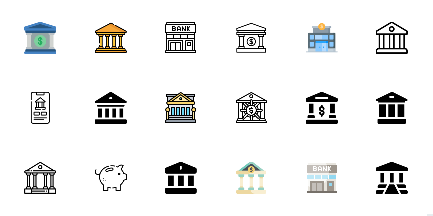 Free Multicolored Banking Icons