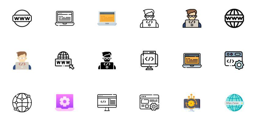 Free Multicolored Web Icons
