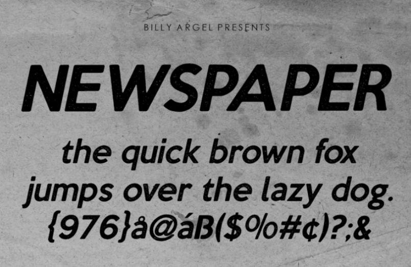 Free Professional News Font