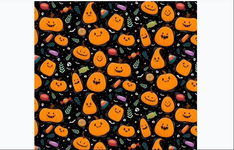 Free Pumpkin Pattern Vector