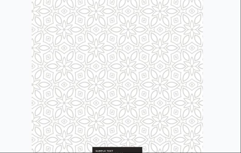 Free Silver Flower Pattern Design