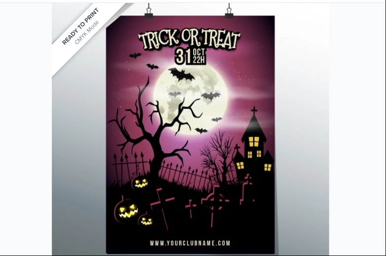 Free Trick or Treat Flyer
