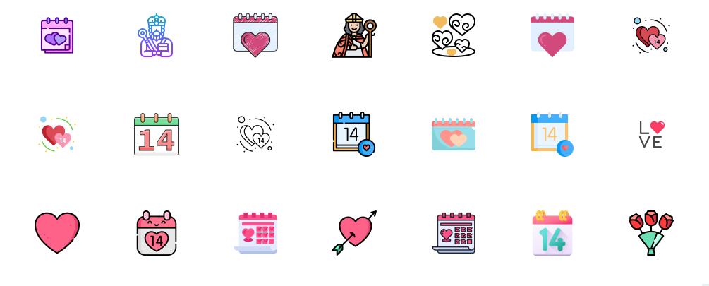 Free Unique Valentine Icons