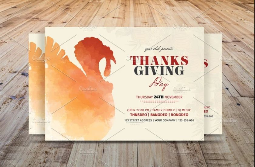 Fully Customizable Thankgiving Poster