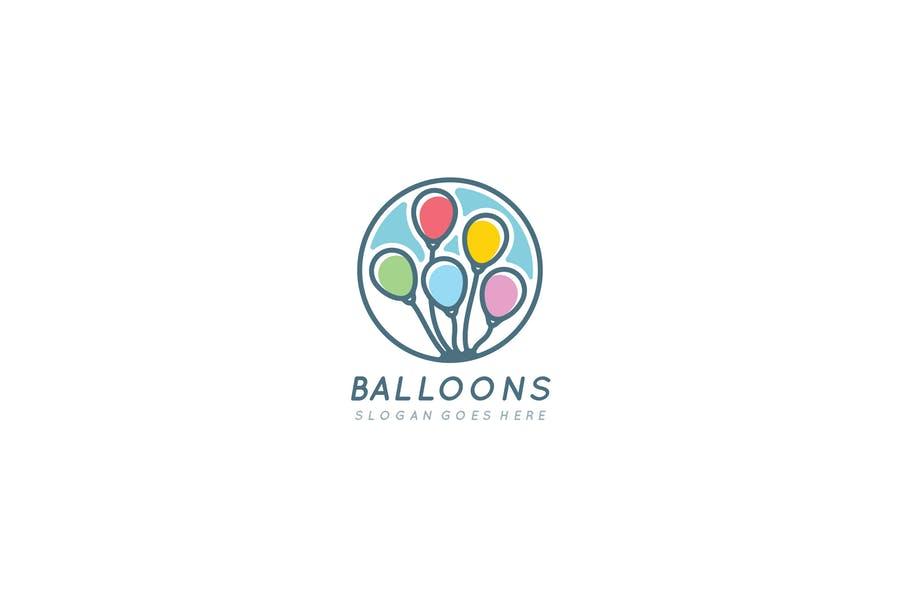 Fully Editable Balloon Logotype