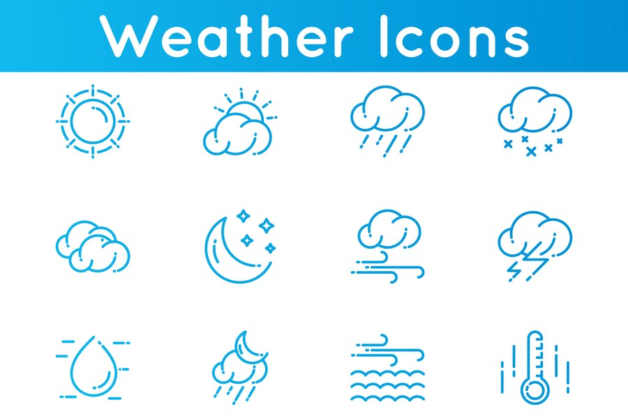 Fully Editable Climate Icons