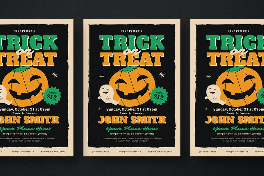 Fully Editable Trick or Treat Flyer