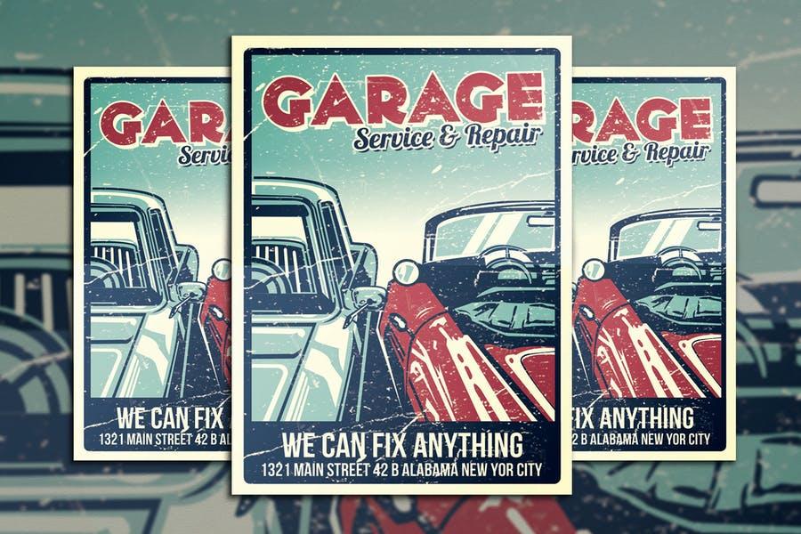 Garage Services Flyer Design
