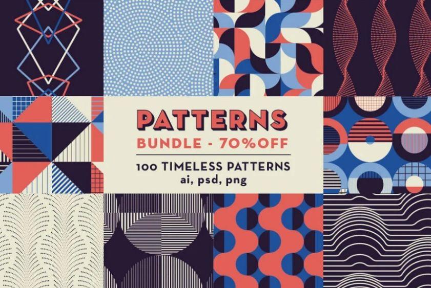 Geometric Patterns Vector Design Bundle