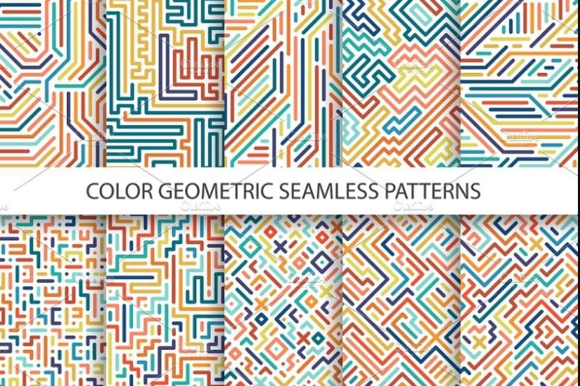Geometric Striped Patterns