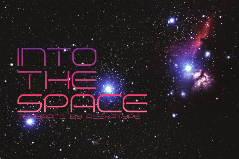 Geometric Style Space Fonts