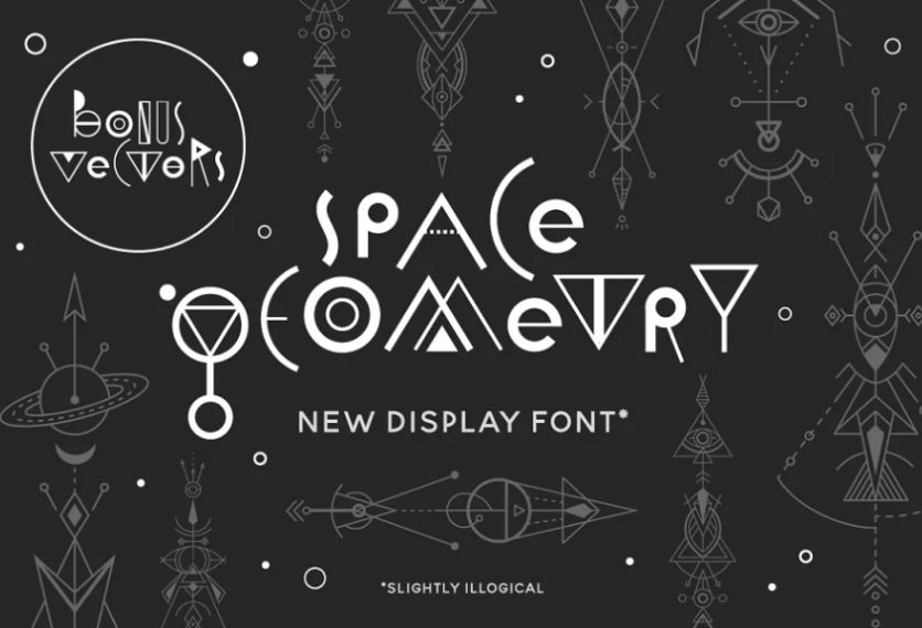 Geometric Style Space Typeface