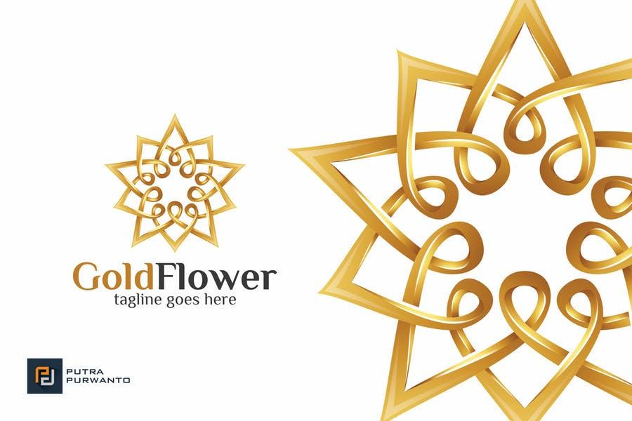Gold Style Flower Logo