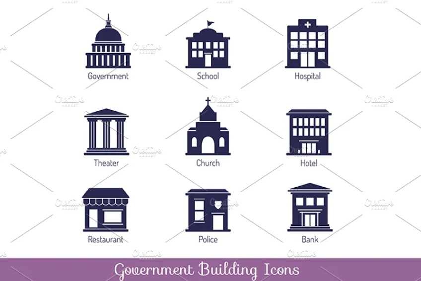 Government Buildings Icon