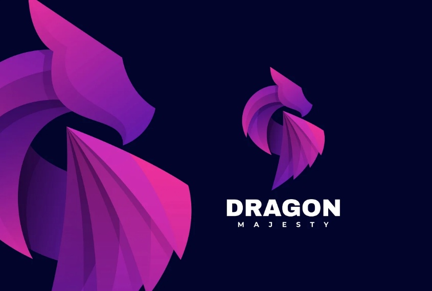 Gradient Dragon Identity Design