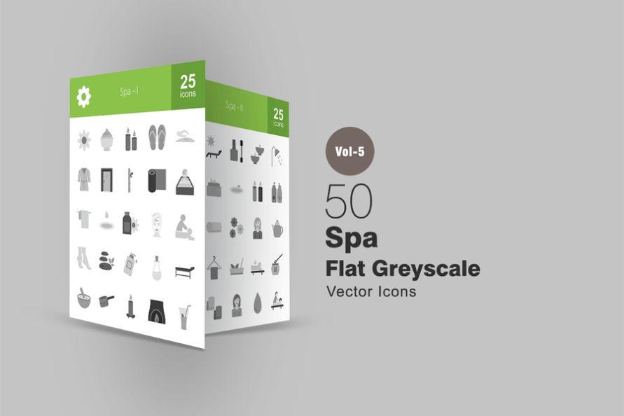 Greyscale Spa Vector Elements