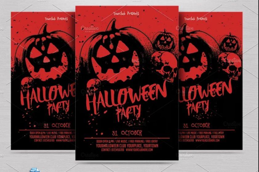 Halloween Bash Flyer Design