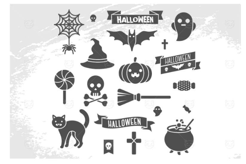 Halloween Characters Icon Set