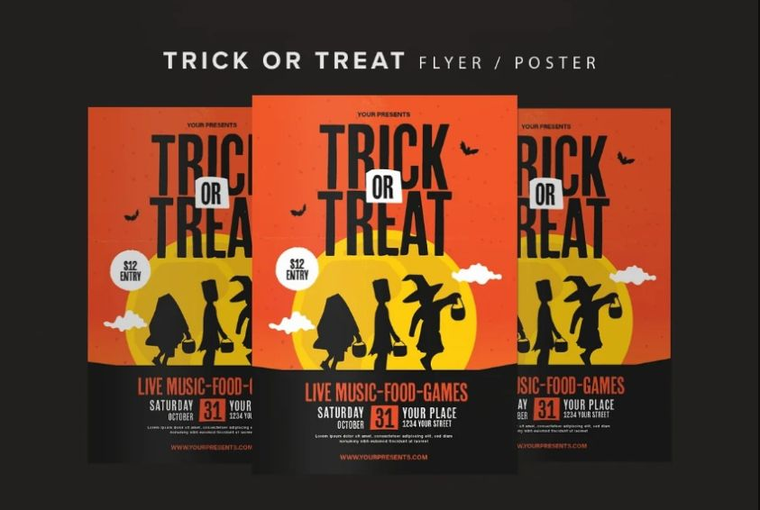 Halloween Event Flyer Design
