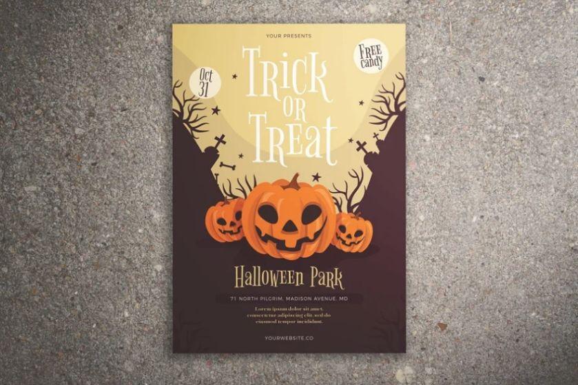 Halloween Park Poster Design
