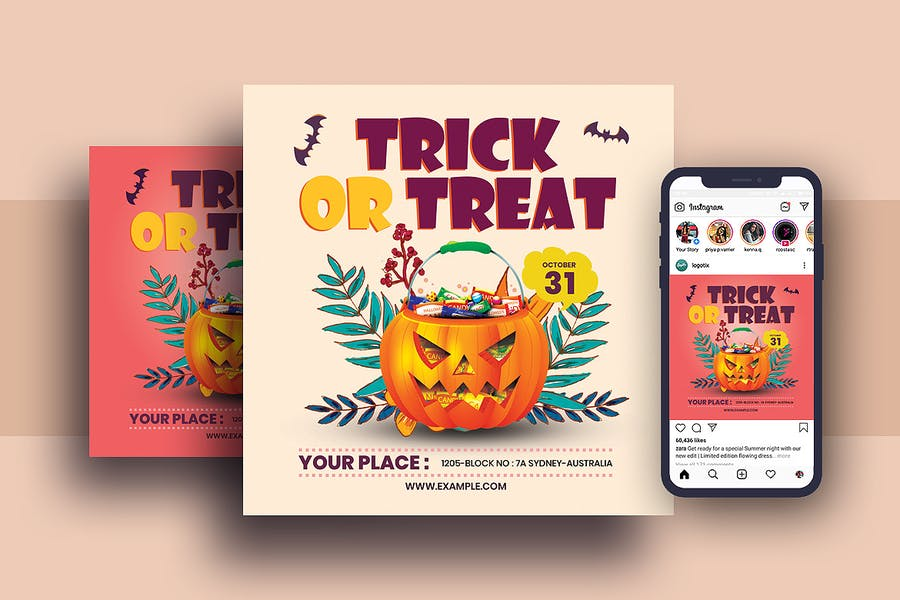 Halloween Poster and Post Template