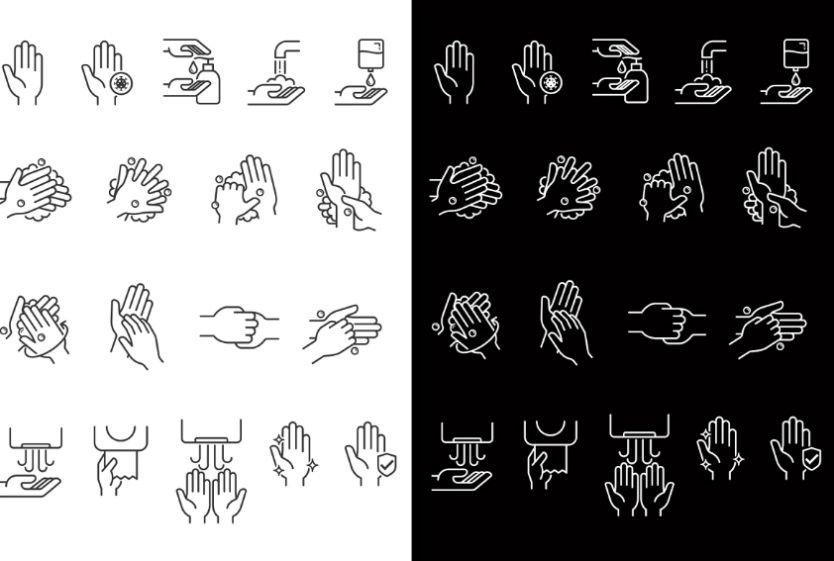 Hand Washing Safety Vector Elements