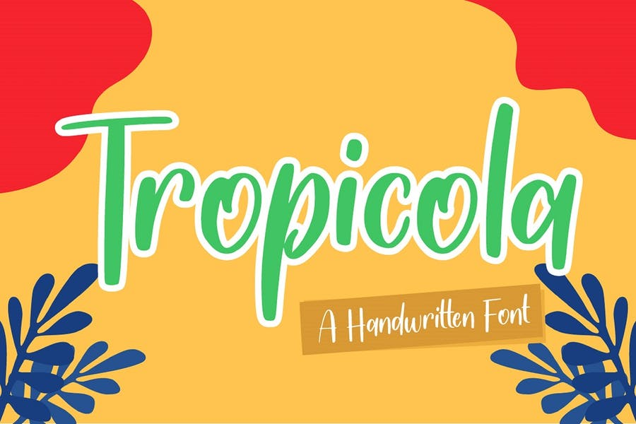 Handwritten Tropical Display Font