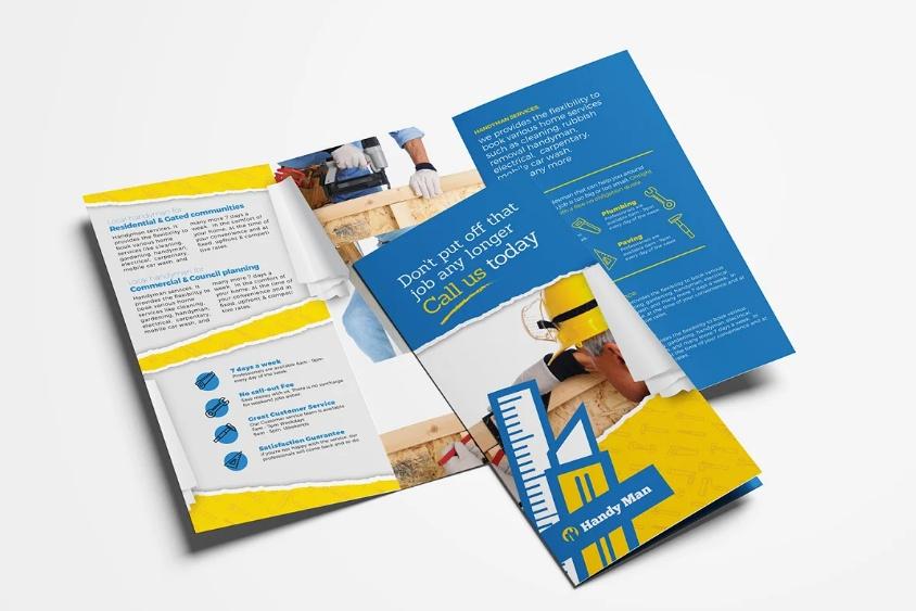 Handyman Brochure Template PSD