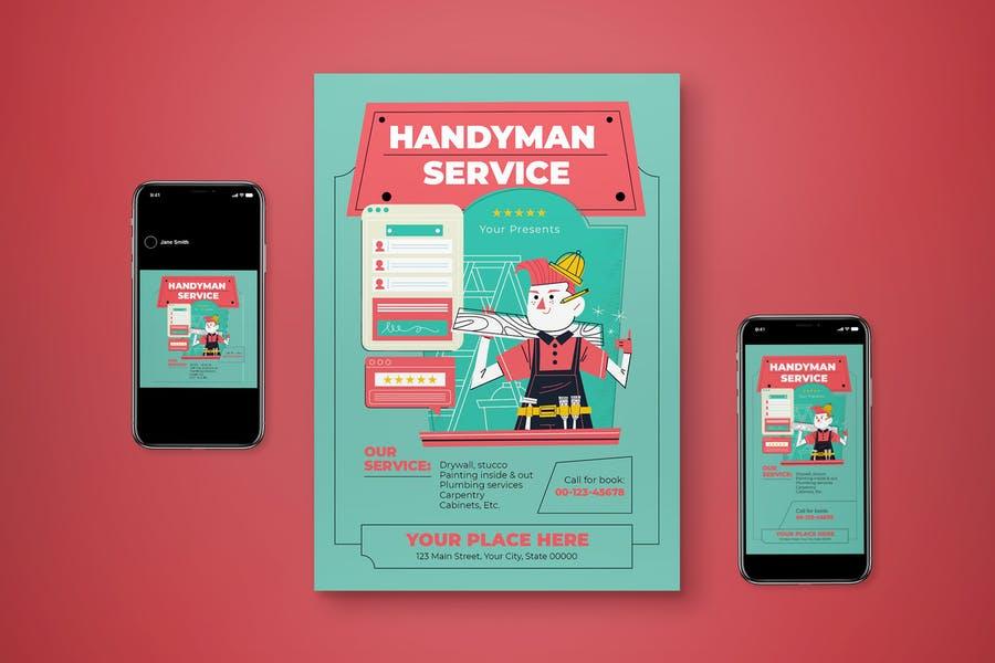Handyman Service Promotional Set