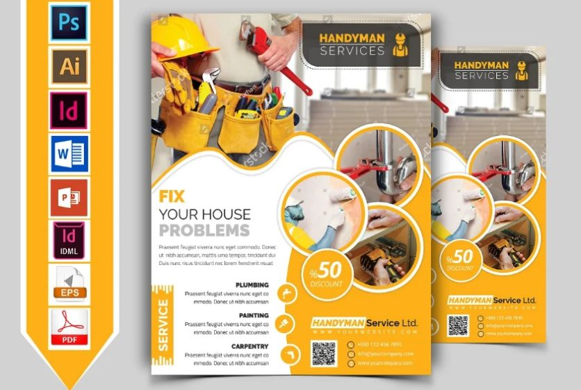 Handyman and Plumbing Flyer