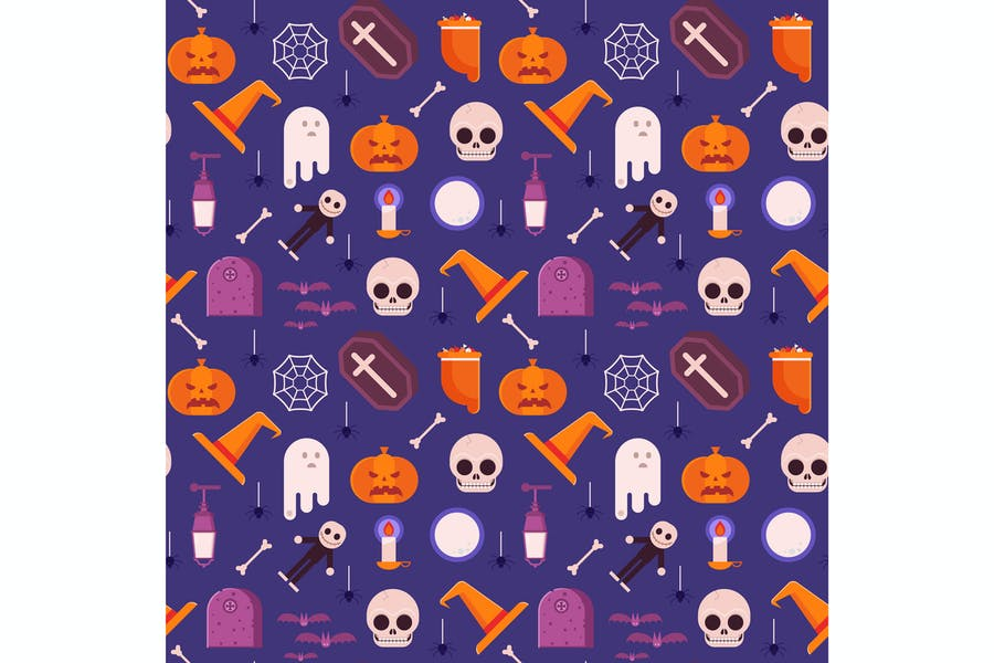 Happy Halloween Pattern Design